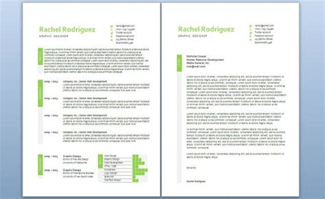 modern business letter template word modern microsoft word resume and cover letter template by
