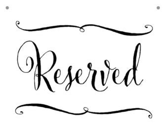 reserved signs for chairs printable wedding signage calligraphy reserved sign in custom