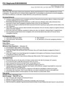 School Resource Officer Sle Resume by Corporal Sergeant School Resource Officer Resume Exle La Plata Department Elmer