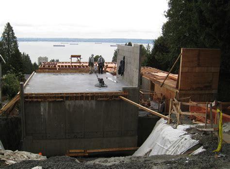 Up Garage Site Suspended Concrete Slab Preped Up For Garage Wall Framing
