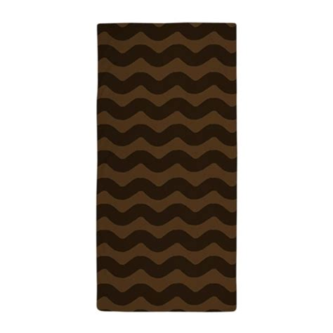 brown wave pattern chocolate brown wave pattern beach towel by patternedshop