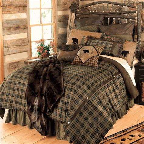 black bear bedding rustic bedding twin size alpine bear bed set black forest decor