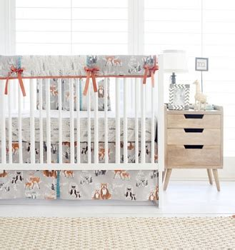 woodland nursery bedding set woodland crib bedding rustic baby bedding woodland