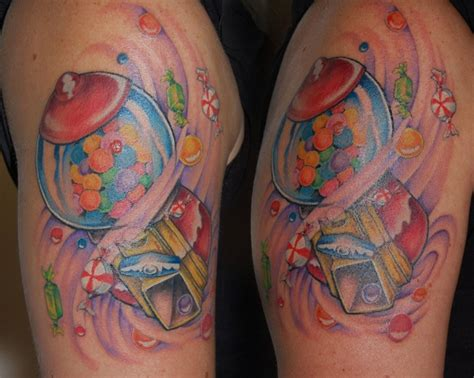 gum machine my style tattoos