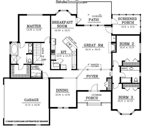 2200 square foot house plans nice one level floor plan 2200 sq ft home sweet home pinterest