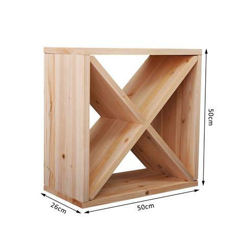 wine rack storage homcom wooden wine rack for 24 bottle square tabletop
