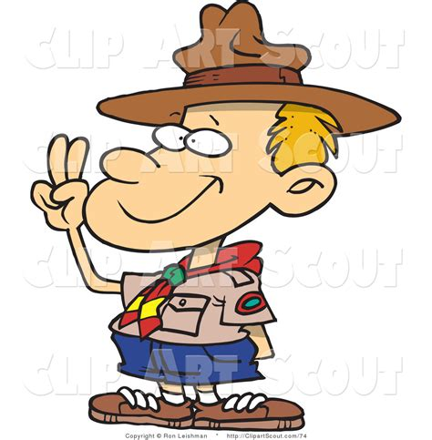 clipart scout larger preview clipart of a boy scout taking an
