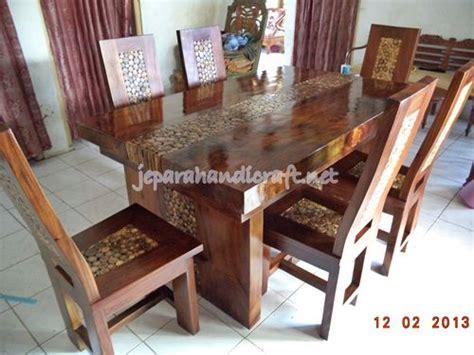 Kursi Meja Makan Koin Kayu Trembesi Solid jual kursi makan antik trembesi koin jati harga murah