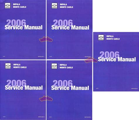 online car repair manuals free 2006 chevrolet impala user handbook shop manual impala 2006 monte carlo chevrolet service repair book ebay