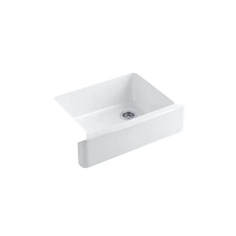 Kitchen Sink Basin Racks Kohler Whitehaven Undermount Farmhouse Apron Front Cast Iron 30 In Single Basin Kitchen Sink In