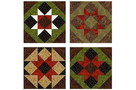 Patchwork Quilt Blocks - sawtooth patchwork quilt block pattern