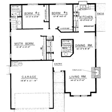 three bedroom bungalow house plans 1305 square feet 3 bedrooms 2 batrooms on 2 levels house plan 18642 bungalow