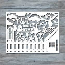 papercutting template home sweet home paper cut template pdf printable by