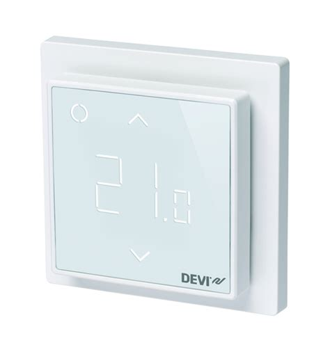 bathroom underfloor heating thermostat devireg smart programmable thermostat polar white