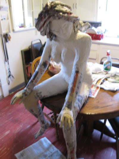 How To Make A Paper Mache Statue - guest post an armature for a paper mache figure