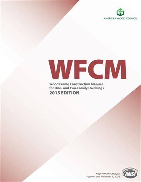 Wood Frame Design Manual | building codes