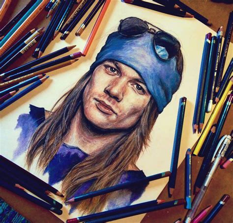 axl rose artwork by cleicha on deviantart