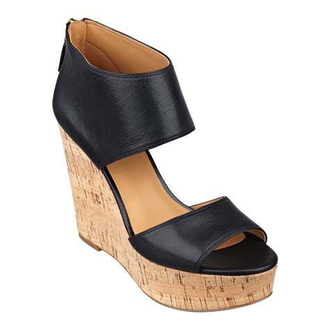 wedge sandals nine west caswell platform wedge sandals in black black