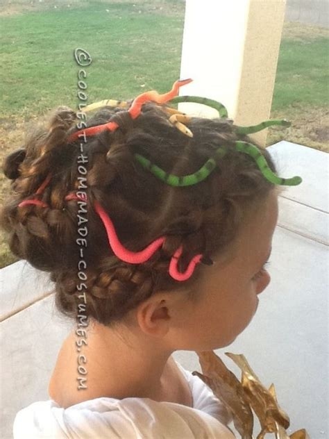 medusa hairstyles halloween easy medusa costume for a girl braids in hair girls and