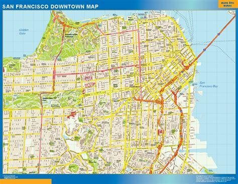 San Francisco Map Wall