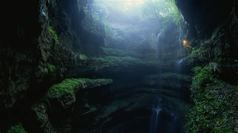 wallpaper abyss nature deep cave wallpaper