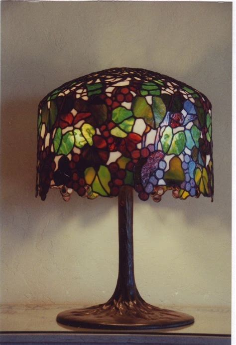 handmade tiffany lamps  leblanc stained glass studio