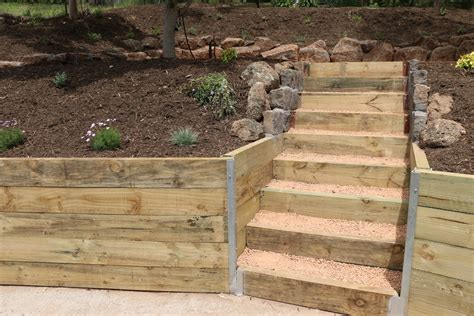 Sleeper Walls by Services Landscaping Melbourne Eastern Suburbs