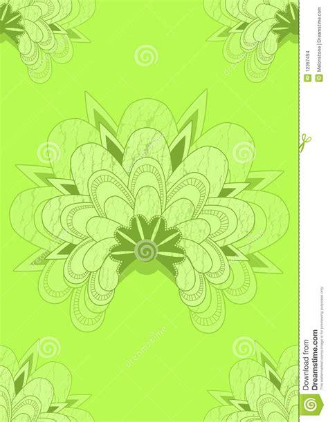 bloemen kalken het groene japanse naadloze behang van de kalk stock