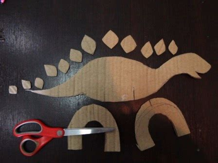 How To Make A Dinosaur Model From Paper Mache - how to make a dinosaur out of cardboard crafts for