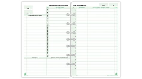 day timer undated planner pages 2 page per day format desk