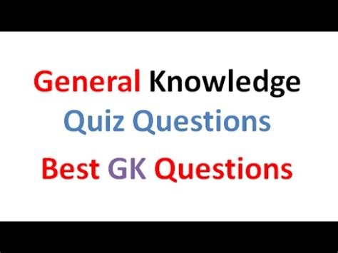 quiz questions youtube easy general knowledge quiz and best quiz questions youtube