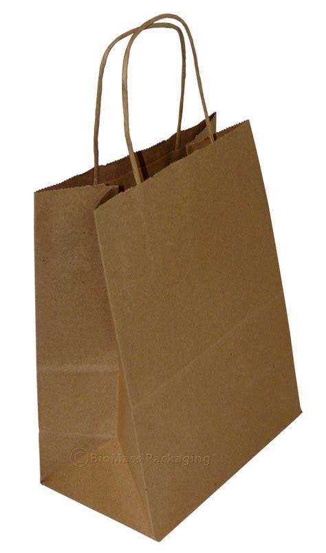 shopping bags natural kraft shopping bag w handles 8 quot x 4 75 quot x 10 5