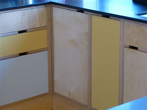 Birch Ply Kitchen Cabinets Cut Out Handles In Birch Plywood Cabinets Plywood Furniture Plywood Cabinets