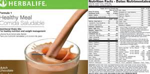 Gallery for gt herbalife chocolate shake nutrition facts
