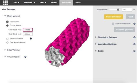 Origami Simulation - un simulador de origami para estudiar los pliegues de las