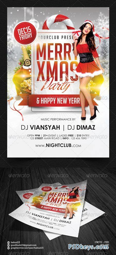 Merry Xmas Party Flyer Template 6299640 187 Free Download Photoshop Vector Stock Image Via Torrent Flyer Template Rar