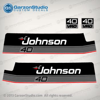 boat motor covers johnson 1986 johnson outboard 40 hp decal set johnsondecals