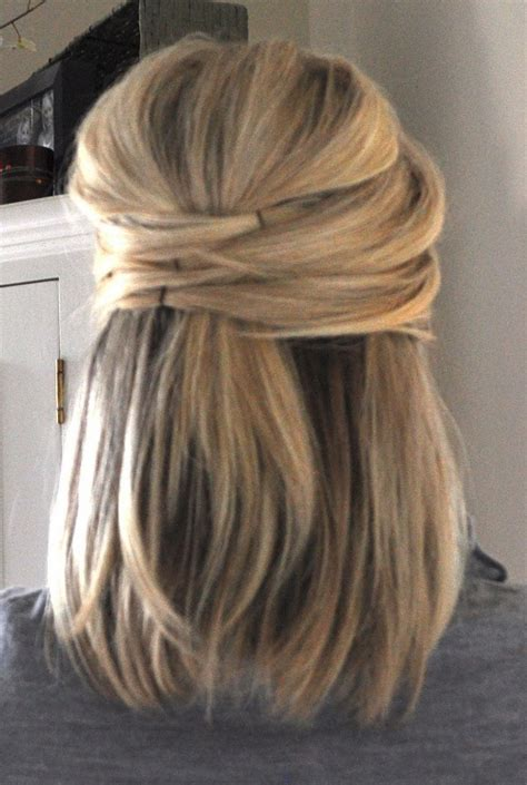 formal hairstyles half up half down straight half up half down hairstyles for short straight thick hair