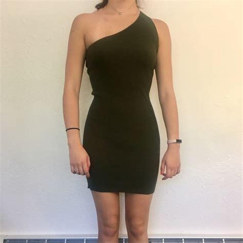 Dress Bodycon Zara zara dresses one shoulder ribbed bodycon dress poshmark