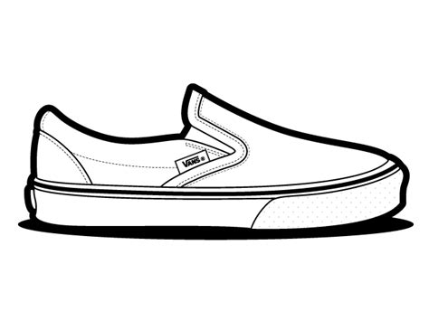 coloring pages of vans shoes vans classic slip on shoes vector vans classic slip on