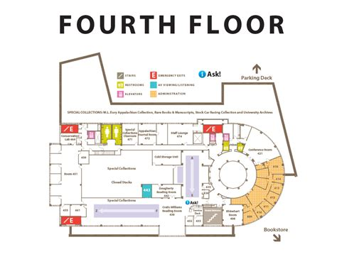 floor plan mapper rooms spaces belk library and information commons