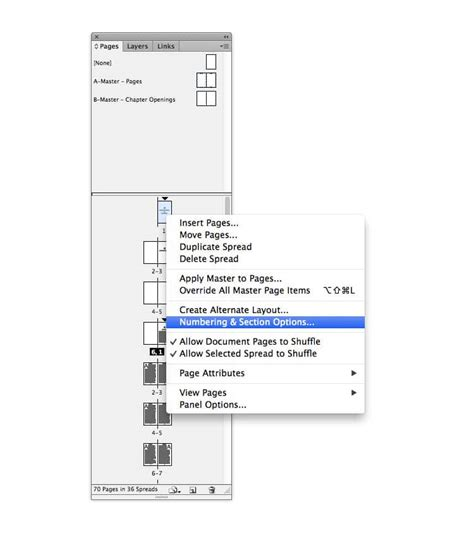 indesign sections indesign walkthrough how to create a table of contents