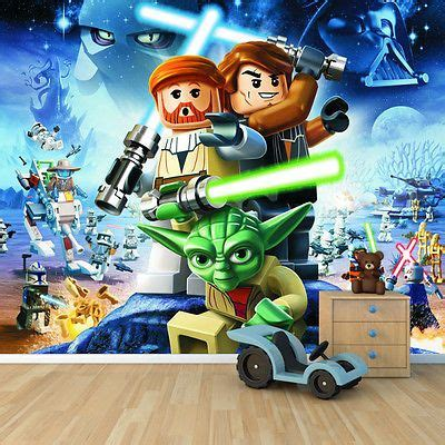 lego wars wall murals details about lego wars wallpaper mural childrens
