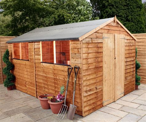 Best Price Sheds 10x8 10 X 8 Buckingham Value Wooden Overlap Apex Wooden Garden