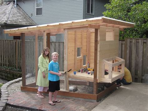 Handmade Chicken Coops - simple chicken coop with inside chicken coops
