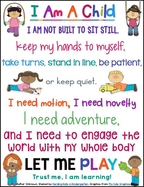 free quot i am a child quot poster inspirational words to