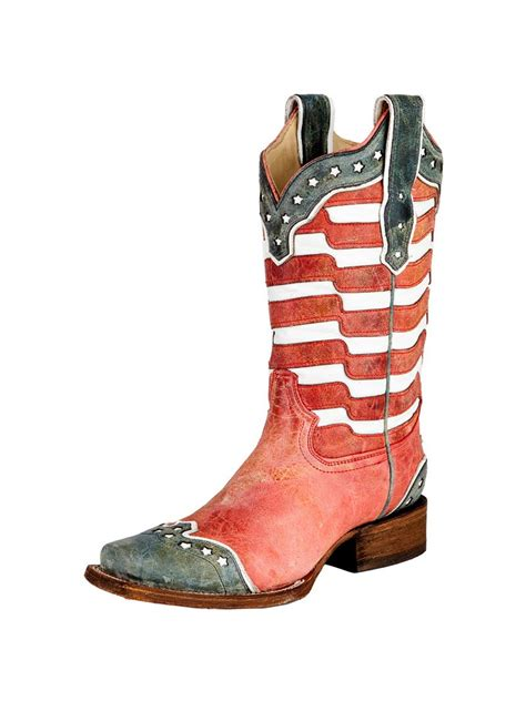 american flag boots women s corral american flag square toe boots 5