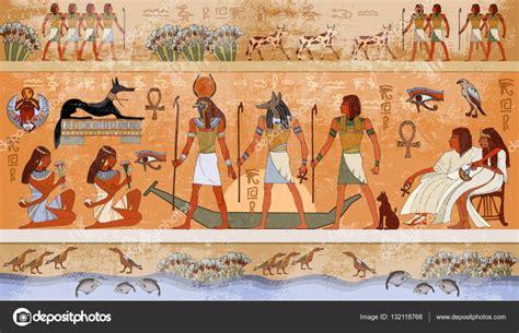 African Wall Murals scena di egitto antica mitologia faraoni e divinit 224