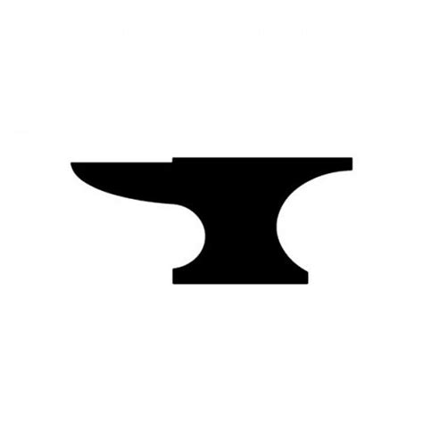 Blacksmith Home Decor by Anvil Symbol Clipart Die Cut Decal Dressxpress Home