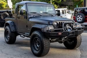 2006 black jeep wrangler unlimited rubitrux conversion